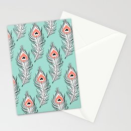 Peaceful Peacock Stationery Cards