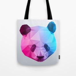 Polygon Panda Bear Tote Bag