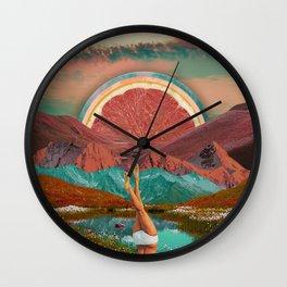 Grapefruit valley Wall Clock