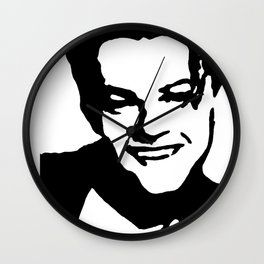 Leonardo DiCaprio Stencil Art Wall Clock