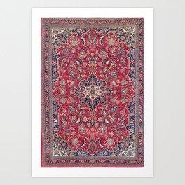Bijar Kurdish Northwest Persian Rug Art Print