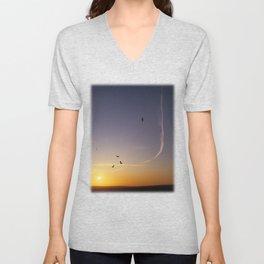 Sunset over Sussex Unisex V-Neck
