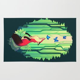 The Fox and the Butterflies Rug