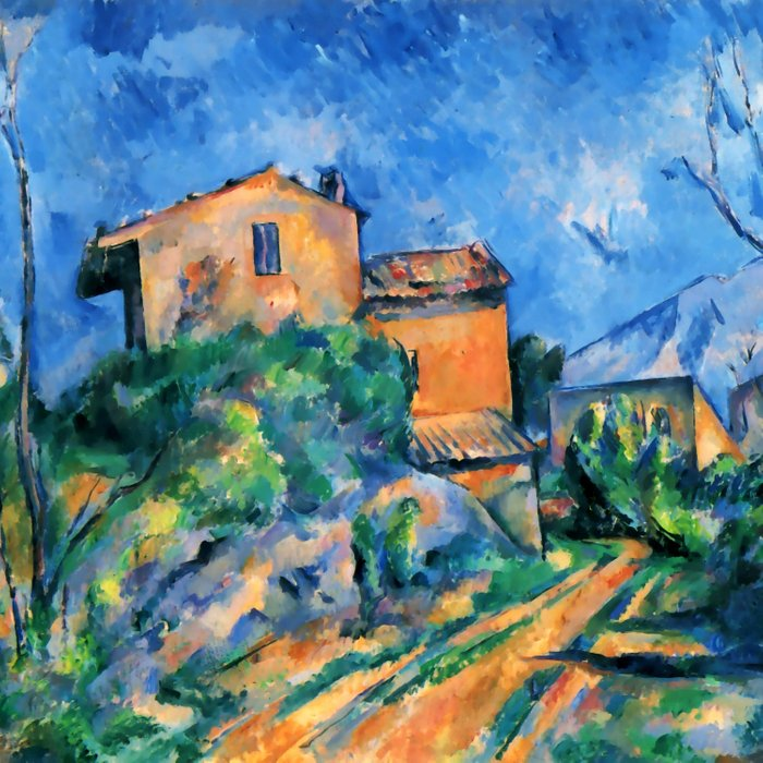 "Paul Cezanne ""Maison Maria with a View of Chateau Noir"" Comforters"