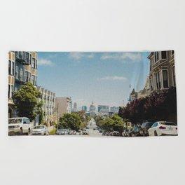 Downtown San Francisco (Color) Beach Towel