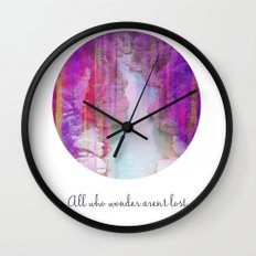 All who wonder... Wall Clock