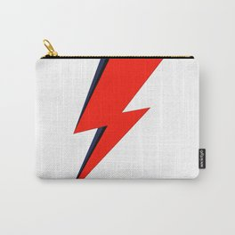 Red Bowie David Lightning Bolt Carry-All Pouch