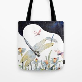 Good Night Surreal Dragonfly Artwork Tote Bag