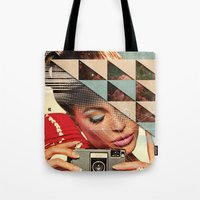 cinema Tote Bags featuring Trend Cinema by St Francis Elevator Ride