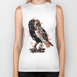 Owl with ink Biker Tank