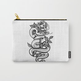 Snake and Rose Carry-All Pouch