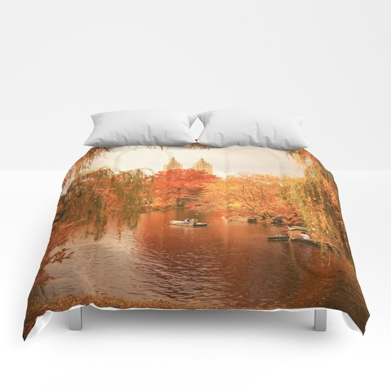 Central Park New York City Autumn Comforters