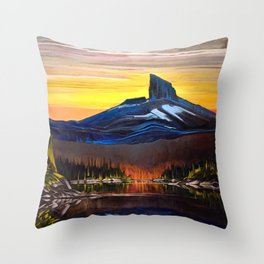 The Tusk At Dusk Throw Pillow