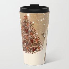Primitive Country Christmas Tree Travel Mug