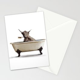 Cow in Bath Stationery Cards