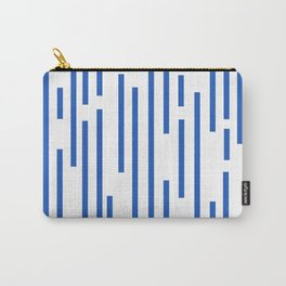 Minimalist Lines – Blue Carry-All Pouch