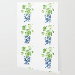 Ginger Jar + Monstera Wallpaper