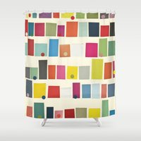 city Shower Curtains featuring City by Cassia Beck
