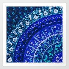 Ditsy Mandala Art Print