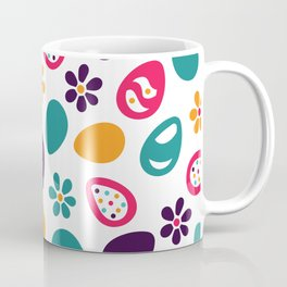 Easter eggs and flowers. Colorful Happy Easter pattern. Coffee Mug