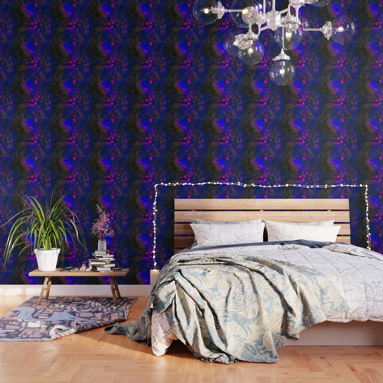 neon galaxies wallpaper