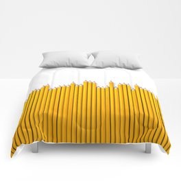 Pencil row / 3D render of very long pencils Comforters