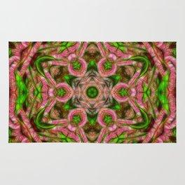 Vibrant surreal wattle kaleidoscope Rug