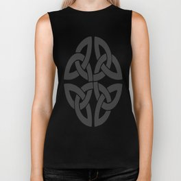 Celtic Shamrock Tribal Knot Biker Tank
