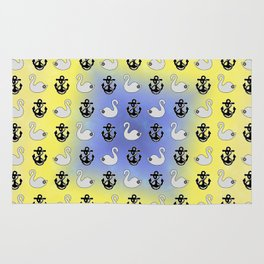 Captain Swan – Lieutenant Duckling pattern Rug