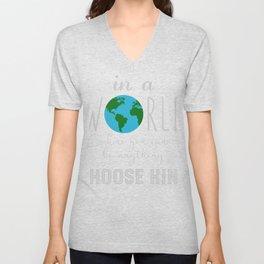 Teacher Choose Kind Shirt - Anti-Bullying Message Unisex V-Neck