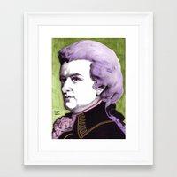 mozart Framed Art Prints featuring Wolfgang Amadeus Mozart by Joseph Walrave