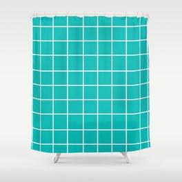 Grid (White/Eggshell Blue) Shower Curtain
