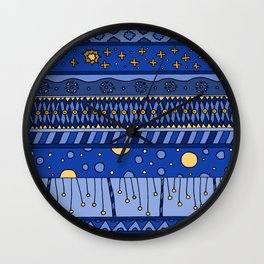 Yzor pattern 010 night Wall Clock