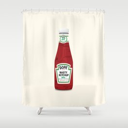 Nasty Ketchup Shower Curtain