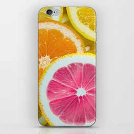 Orange, Pink & Yellow Fruit Slices iPhone Skin