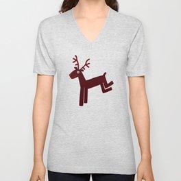 Reindeer-Red Unisex V-Neck