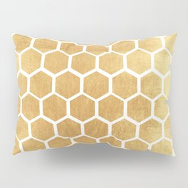 Gold honey bee Pillow Sham