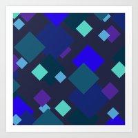Blocking Color Blocks!! Art Print