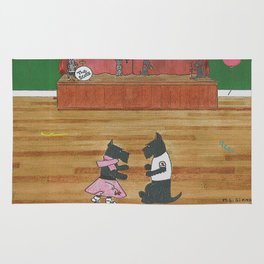 At the Hop-Scotch - Scotties - Scottish Terriers Rug