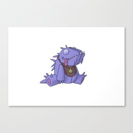 Cute Plush Dino Canvas Print