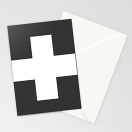 Swiss Cross Charcoal Stationery Cards
