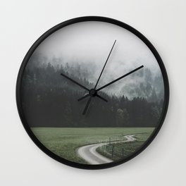 road - Landscape Photography Wall Clock