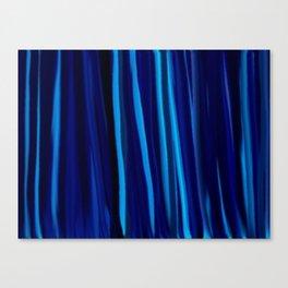 Stripes  - Ocean blues and black Canvas Print