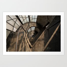 The world needs more spiral staircases. Abandoned power station. Art Print