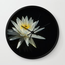 White Water Lily Visitor Wall Clock