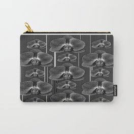 Black & White Orchids Graphic Pattern Art Carry-All Pouch