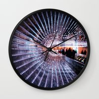back to the future Wall Clocks featuring Back to the Future by Laura George
