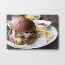 Burger 02 Metal Print
