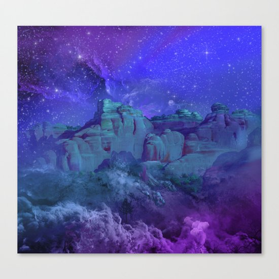 purple desert landscape Canvas Print
