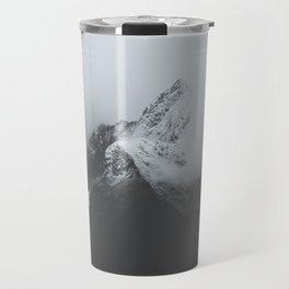 Milford Sound (Black + White) Travel Mug